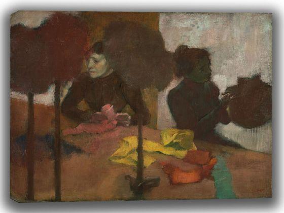 Degas, Edgar: The Milliners. Fine Art Canvas. Sizes: A4/A3/A2/A1 (003766)